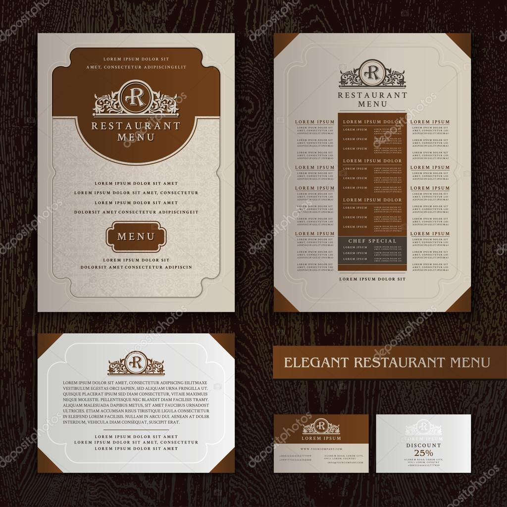 Vector restaurante menu design modelo de folheto com logotipo vector restaurante menu design modelo de folheto com logotipo vetores de stock stopboris Images