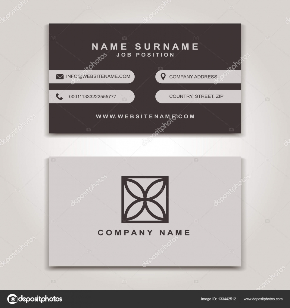 Vector Business Card creative Design, Modern trend style, front and ...
