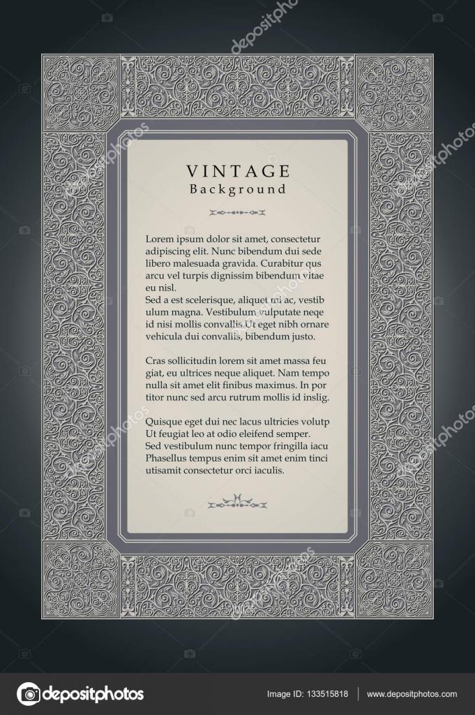 Vintage-Hintergrund, ornamentale Rahmen-Design, viktorianischen Stil ...