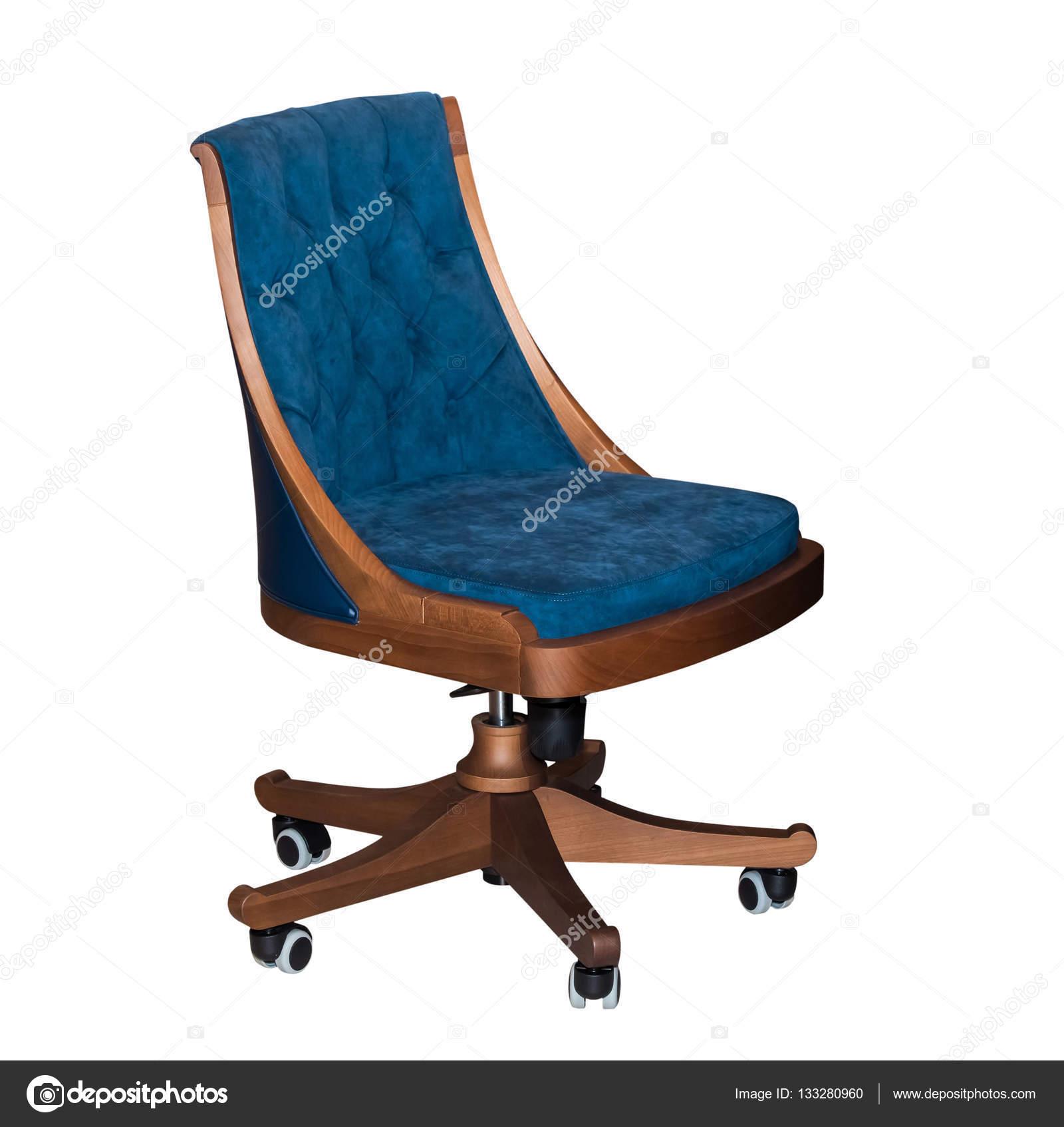 Chaise Bureau Bleu Tournante Moderne Isol Sur Fond Blanc Image De Prescott10