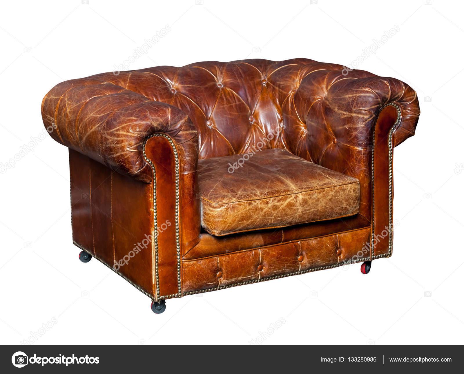 Bruine Leren Stoel : Klassieke bruin lederen stoel u2014 stockfoto © prescott10 #133280986