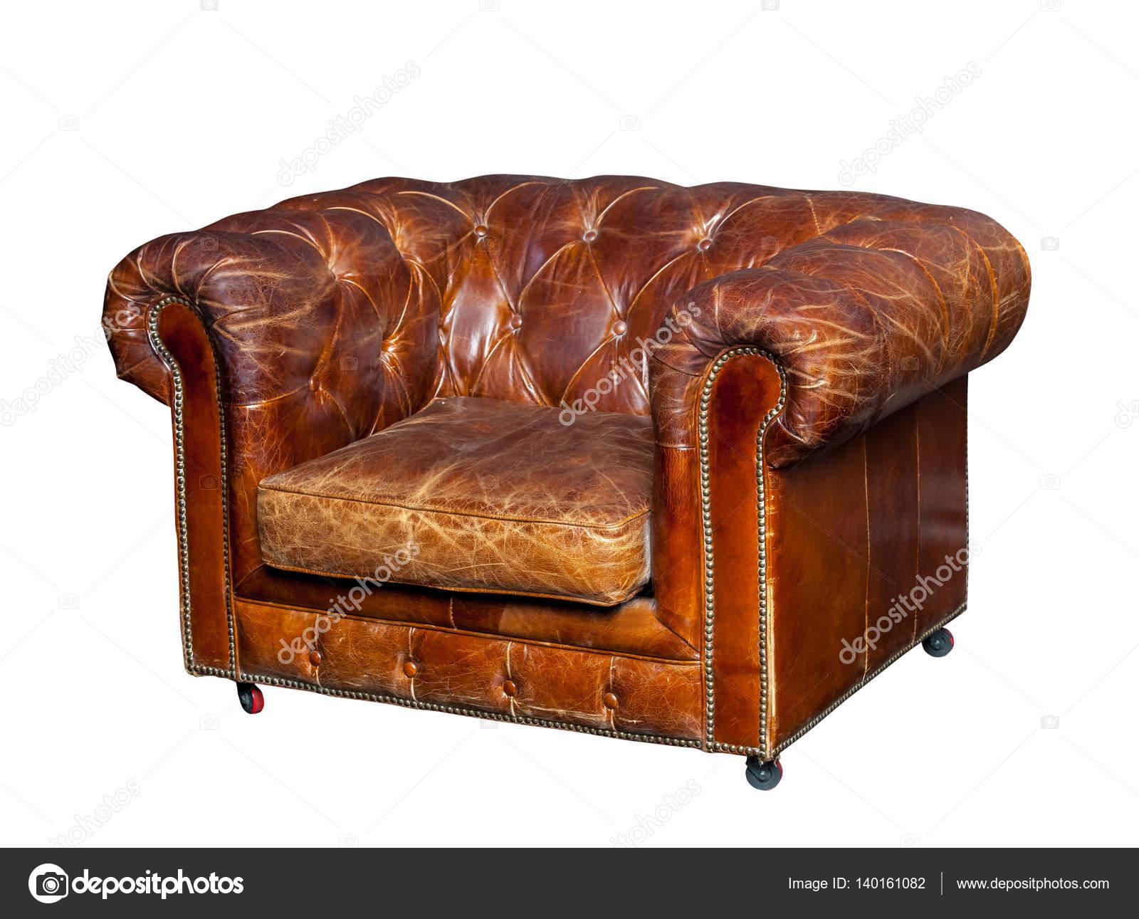 Bruine Leren Stoel : Klassieke bruin lederen stoel u2014 stockfoto © prescott10 #140161082
