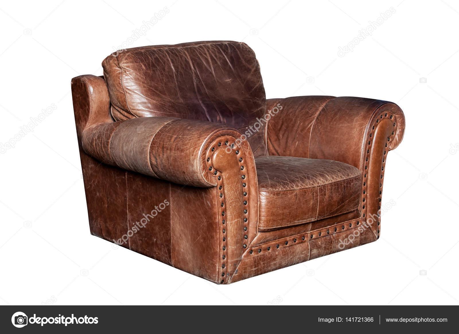 Bruin leren stoel u2014 stockfoto © prescott10 #141721366