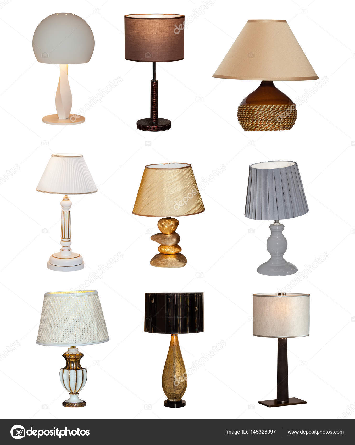 Photo Stock Collage — Different Table Lamps Of © Prescott10145328097 K1JlTFc3