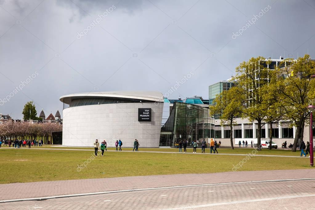Building of Van Gogh Museum in Amsterdam, Netherlands