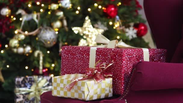 Nový rok a vánoční pozadí