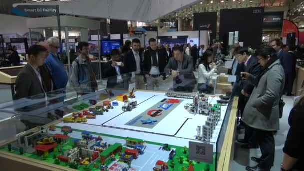 Virtual reality, 5G assistance experience on Huawei stand on exhibition Cebit 2017 in Hannover Messe, Germany