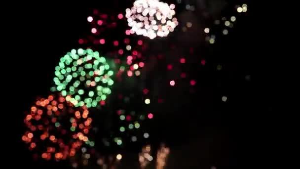 Defocused firework pyrotechnic show