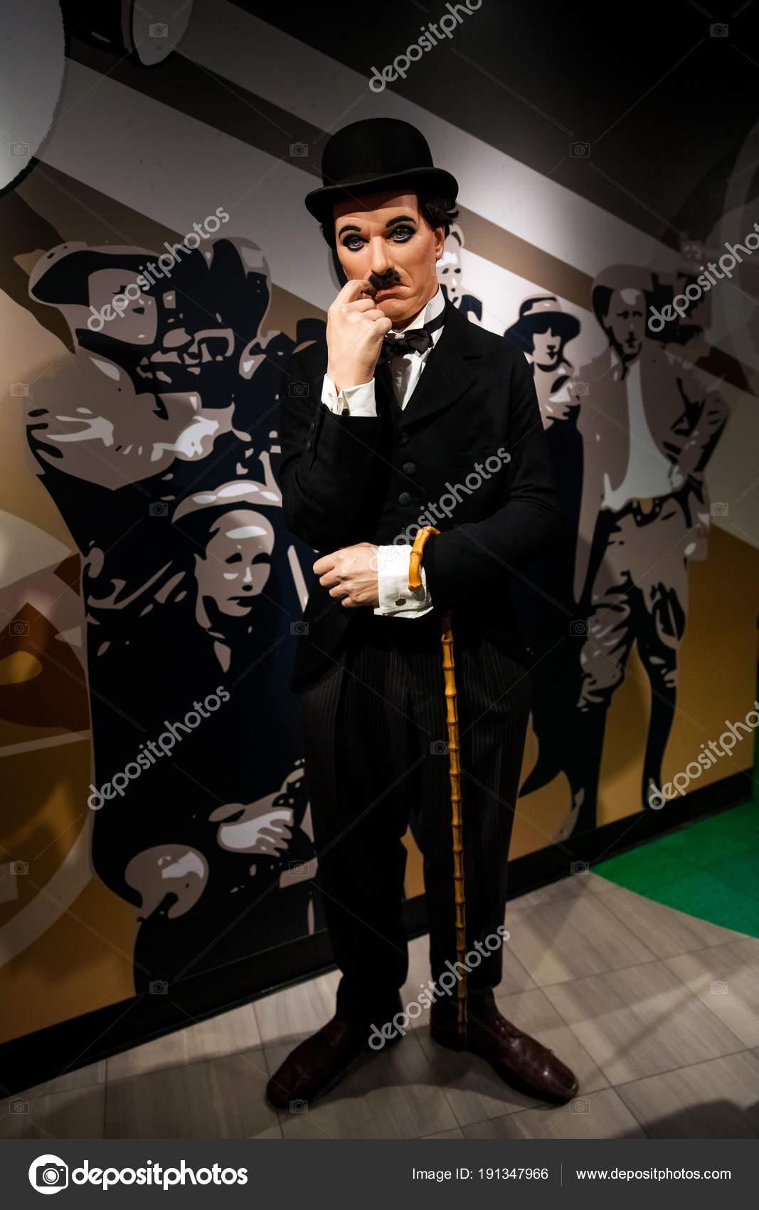 Museo Delle Cere Amsterdam.Statua Di Cera Di Sir Charles Spencer Charlie Chaplin Attore Comico