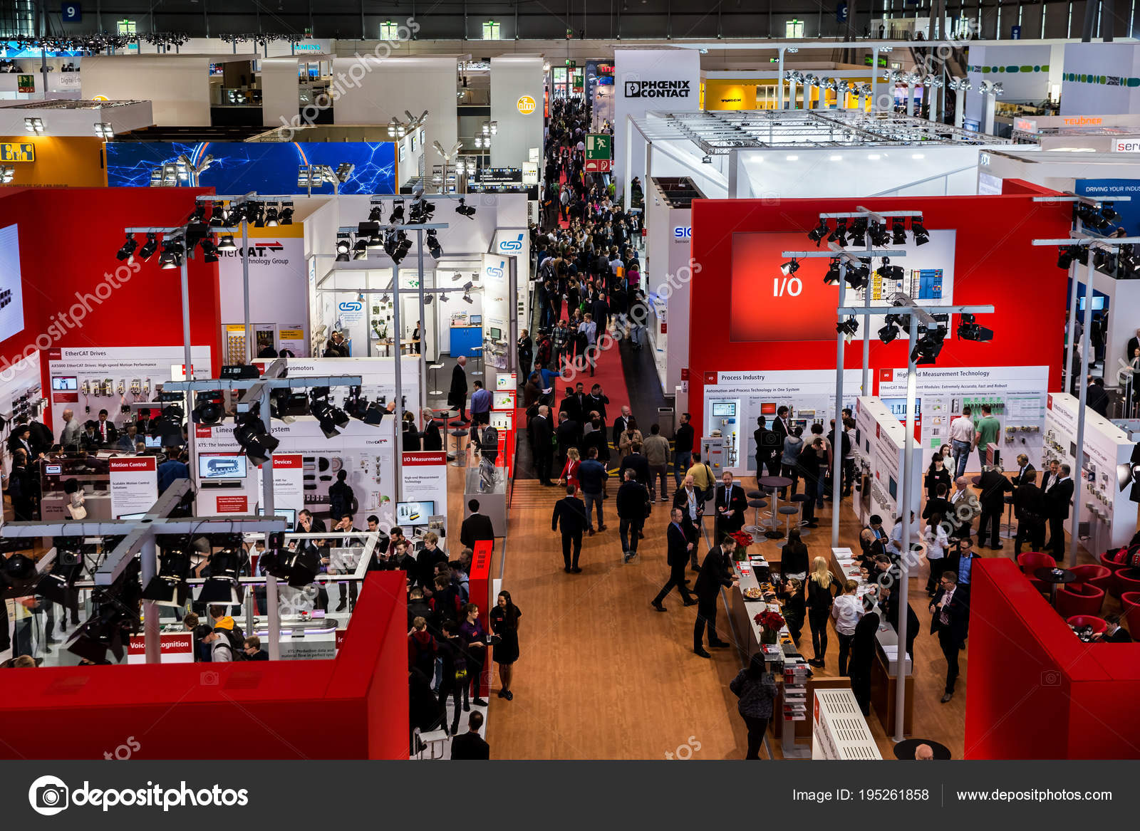 D Exhibition Stand Free Download : Visitors in exhibition stands and booths on messe fair in hannover