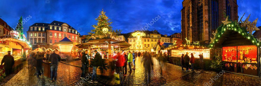 Heidelberg Weihnachtsmarkt.Weihnachtsmarkt In Heidelberg Deutschland Stockfoto Smileus