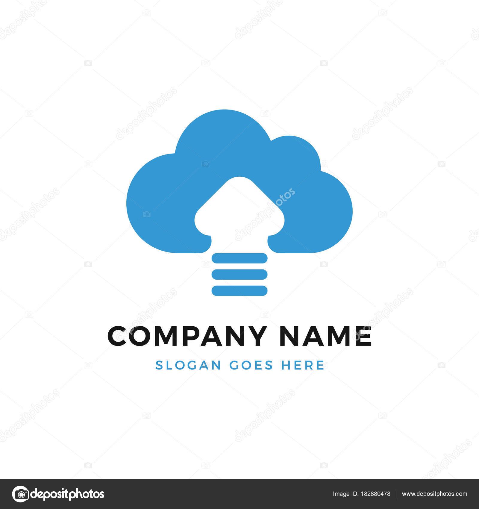 Cloud-Upload-Logo-Design-Vorlage — Stockvektor © dariusl #182880478