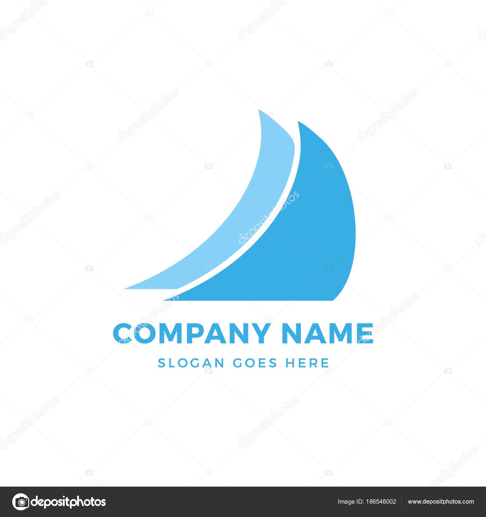 Plantilla de diseño de logo de vela — Vector de stock © dariusl ...