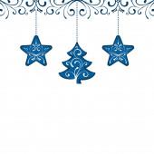 Modrá vánoční dekorace dekorace karta prvek pozadí