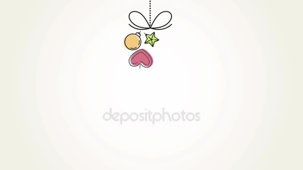 Veselé Vánoce a šťastný nový rok animace pozdravy karta