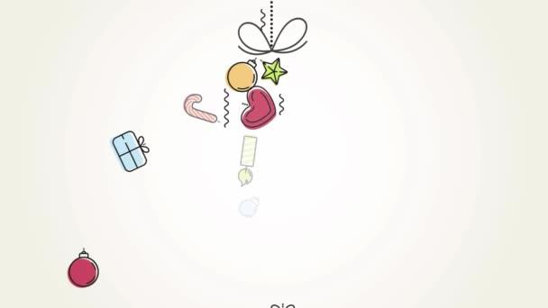 Christmas season greetings animated card