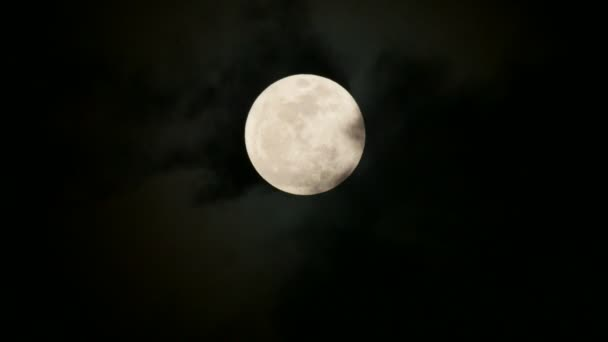 Super full moon rising and cloud moving.