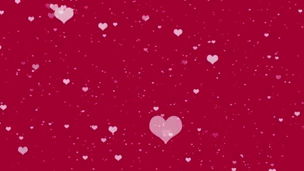 Valentýna abstraktní pozadí se srdíčky