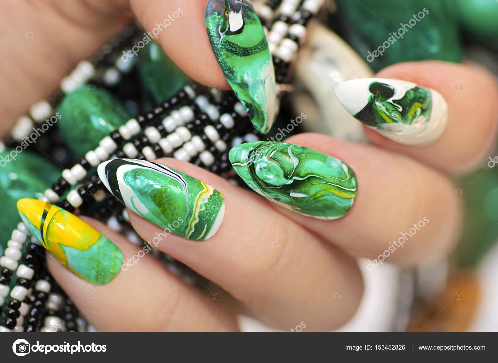 Stone Nail Design Stock Photo Marigo 153452826