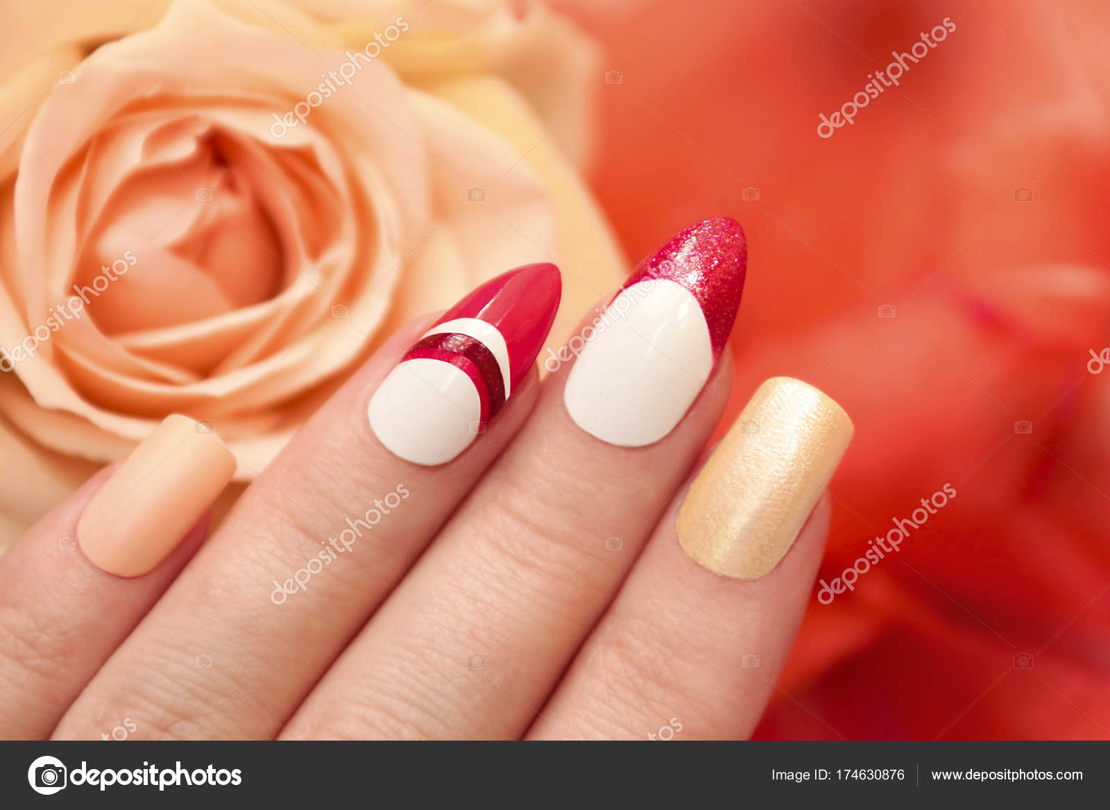 Square Oval Nails Stock Photo C Marigo 174630876