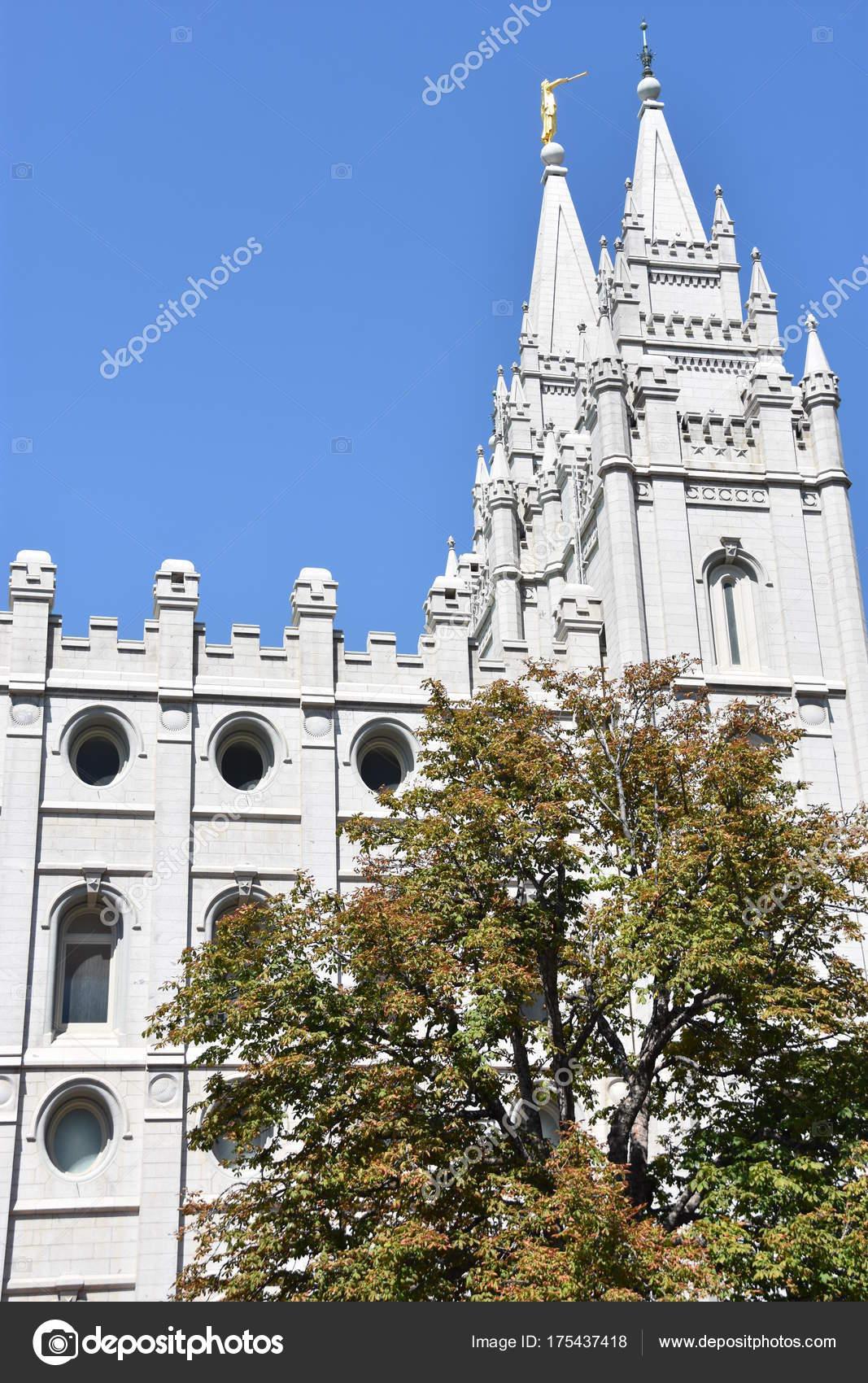 Mormon Temple Temple Square Salt Lake City Utah — Stock Photo