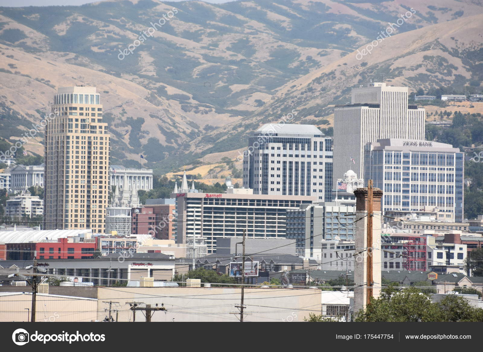 Salt Lake City Aug Vista Salt Lake City Utah Como — Foto editorial ...