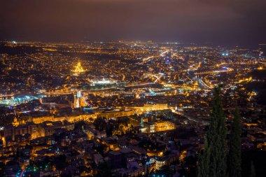 """Картина, постер, плакат, фотообои """"Тбилиси ночью"""", артикул 176041438"""