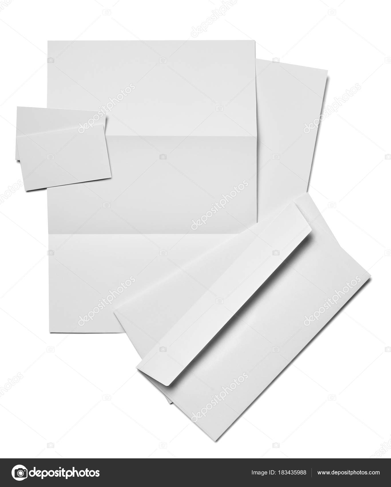 envelope letter card paper template business stock photo