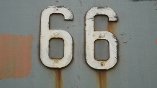 66 old iron texture road sign background symbol United States of America
