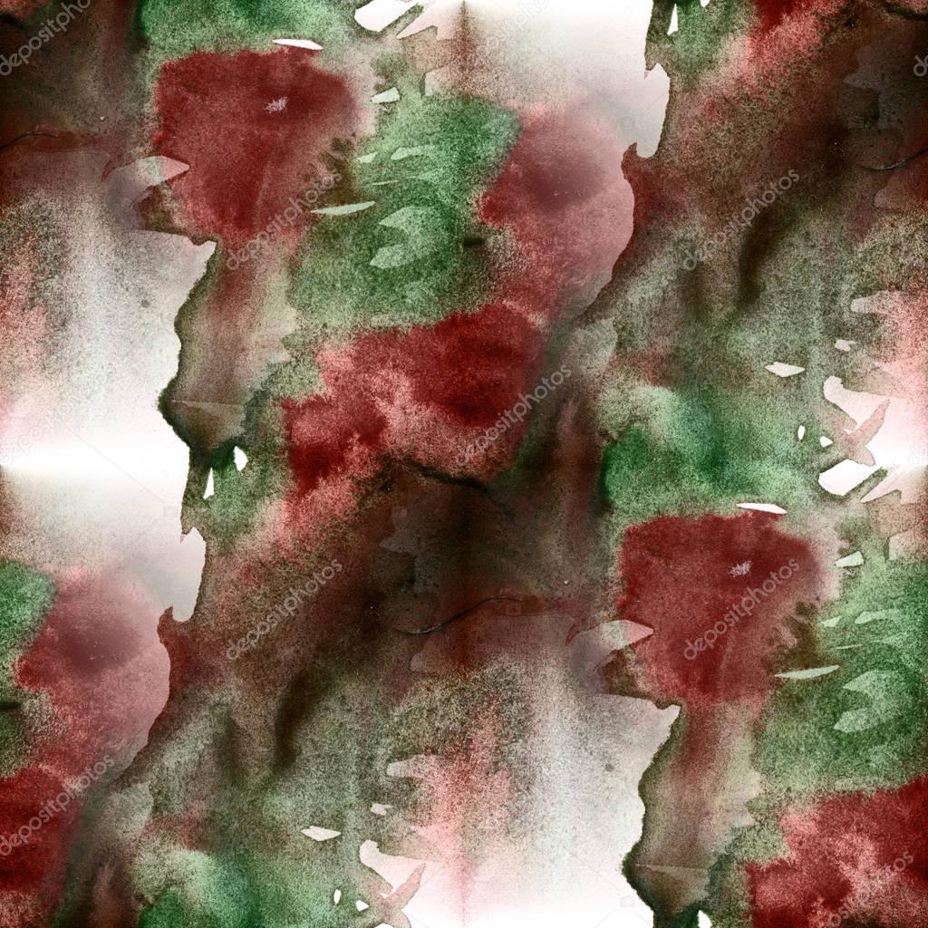 Abstrait Colore Transparente Aquarelle Vert Marron Pour Le Fond
