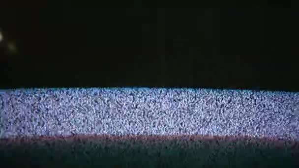 TV-Signal-TV-Rauschbildschirm mit statischen verursacht Flimmern a durch schlechten Empfang
