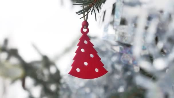 toy decoration winter spruce hanging on the christmas tree christmas new year