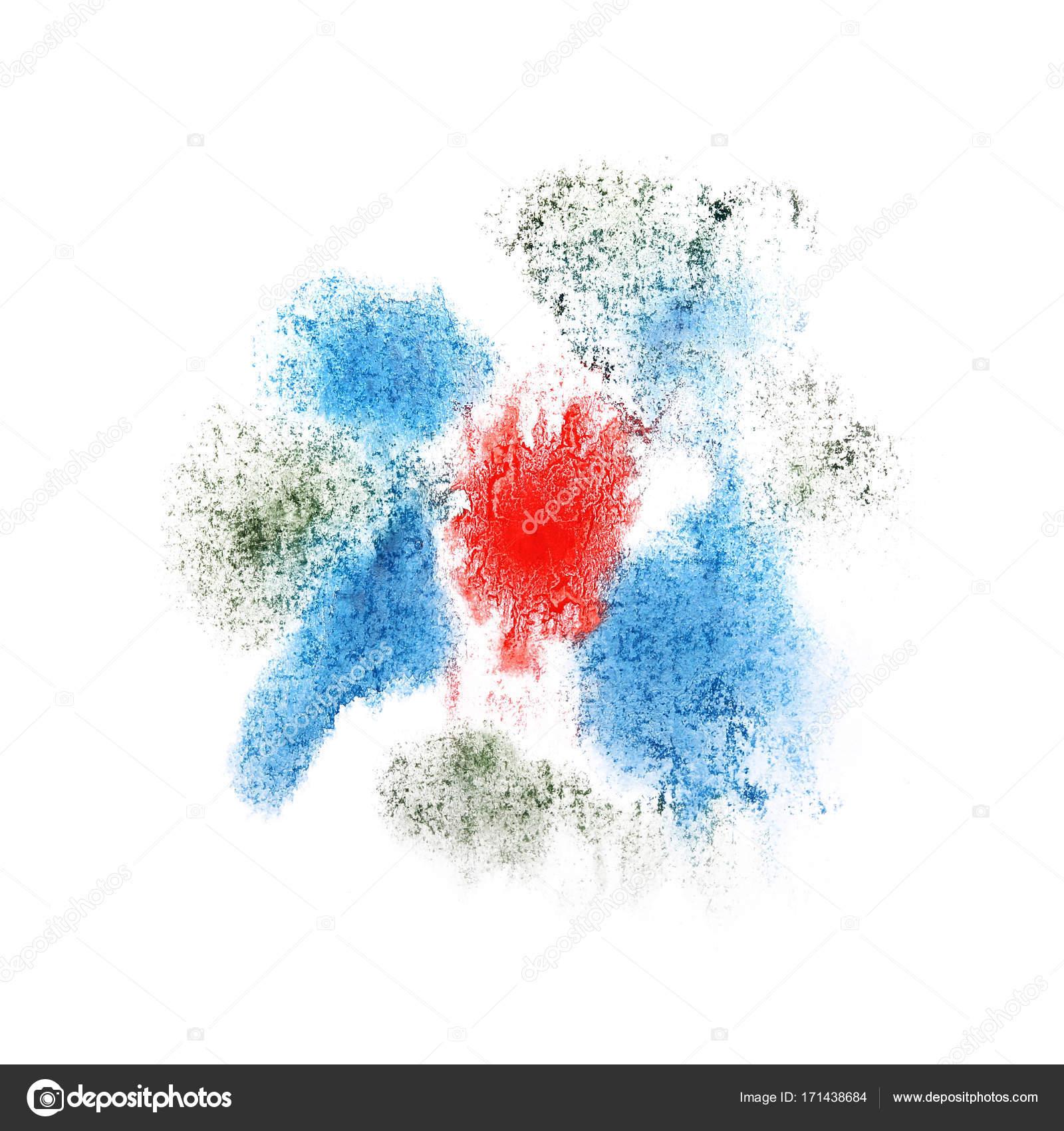 Peinture Splash Bleu Blanc Et Tache Dencre Rouge Abstrait Formes