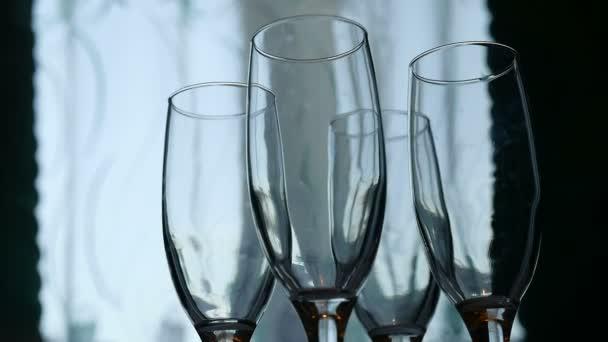 sklenice na víno silueta mnoho skupinu uvnitř