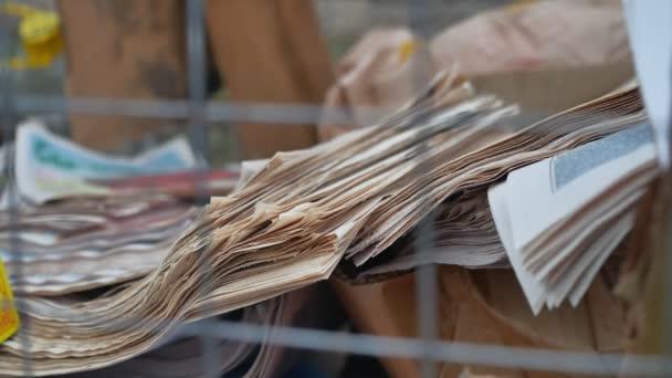 papírový odpad odpad kolekce starých novin a časopisů, péče o životní prostředí