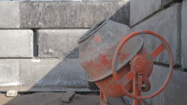 Industrial cement lifestyle mixer machine a construction site. concept building constructing architect concrete pouring. Mixes the sand, gravel and water