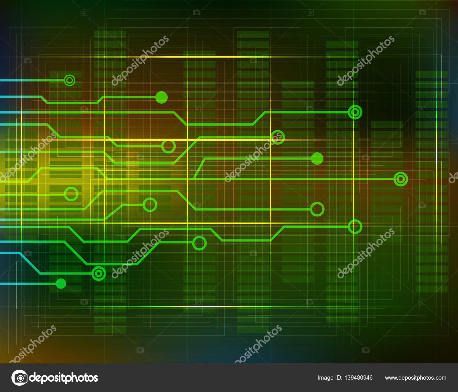 Circuito di priorità bassa di tecnologia con linee. Vector ...