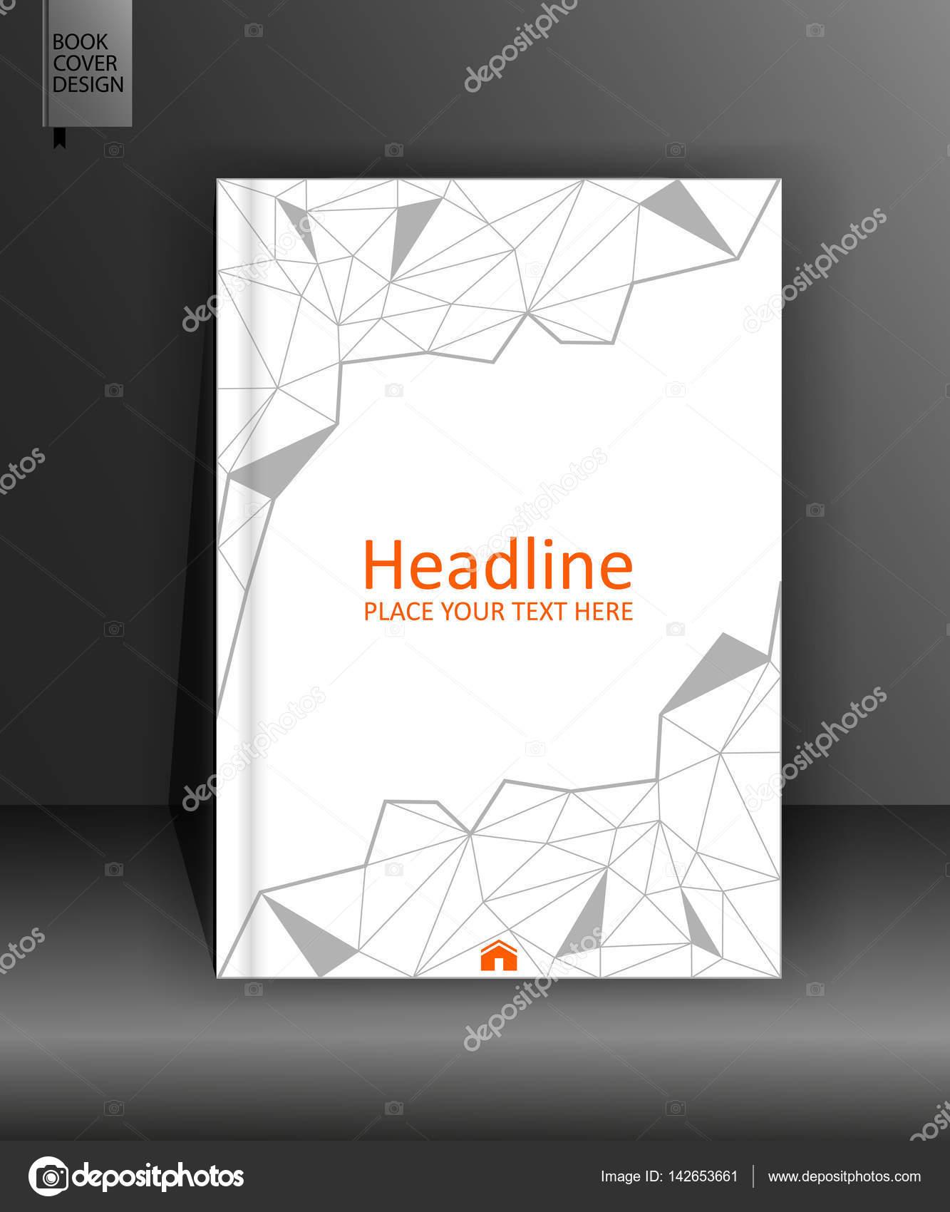 Broschüre Design-Vorlage in low-Poly. A4. Vektor — Stockvektor ...