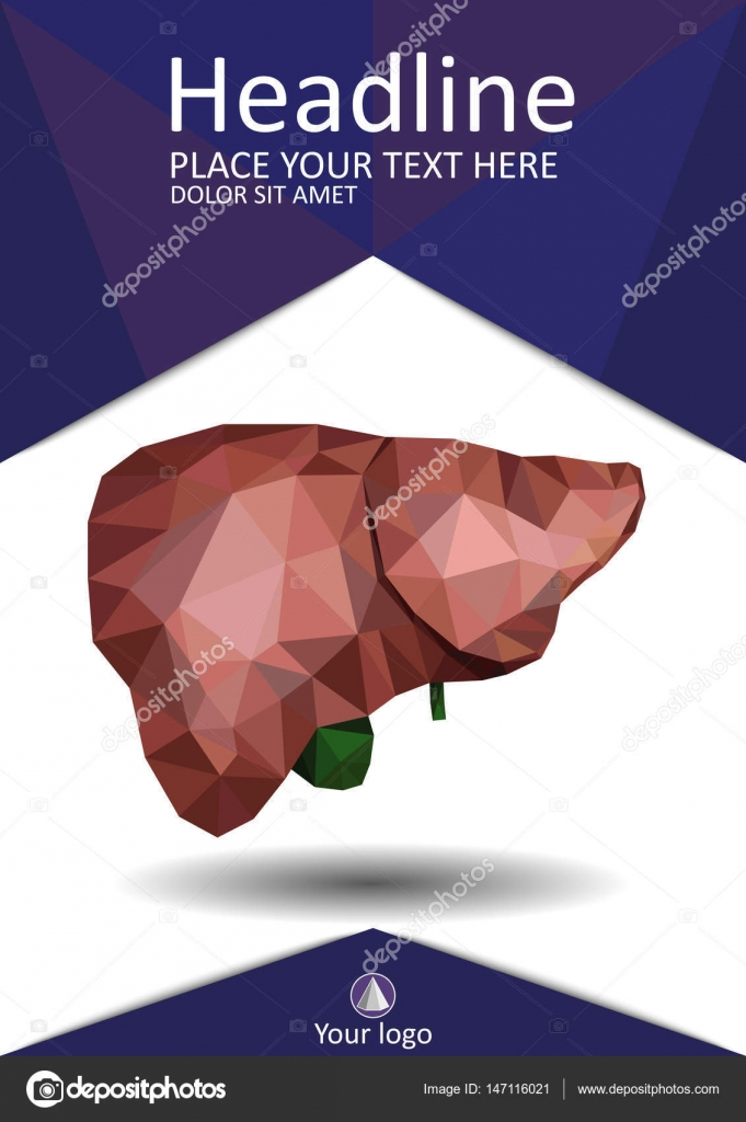 Buch Cover Vorlage mit realistischen menschlichen Leber mit ...