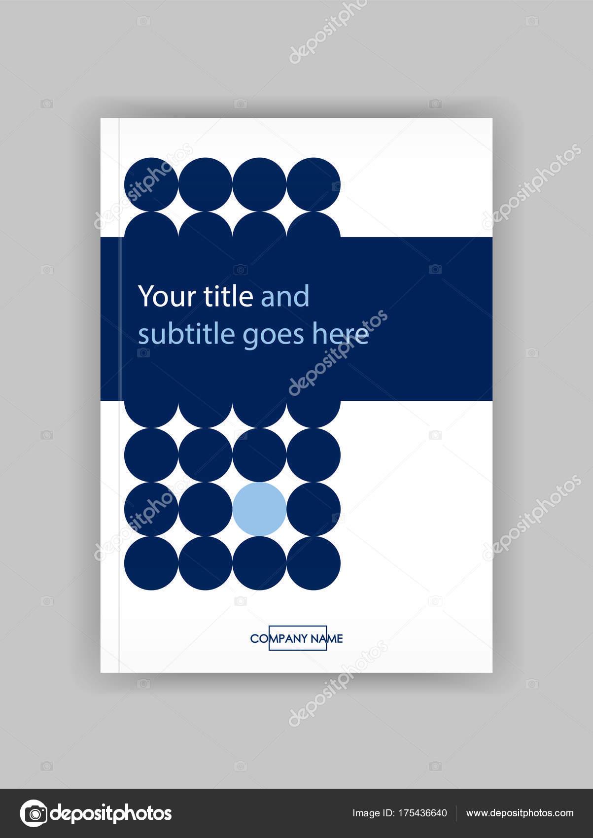 Blaue Kreise Jahresbericht mit geometrischen Figuren. Buch-Cover-de ...