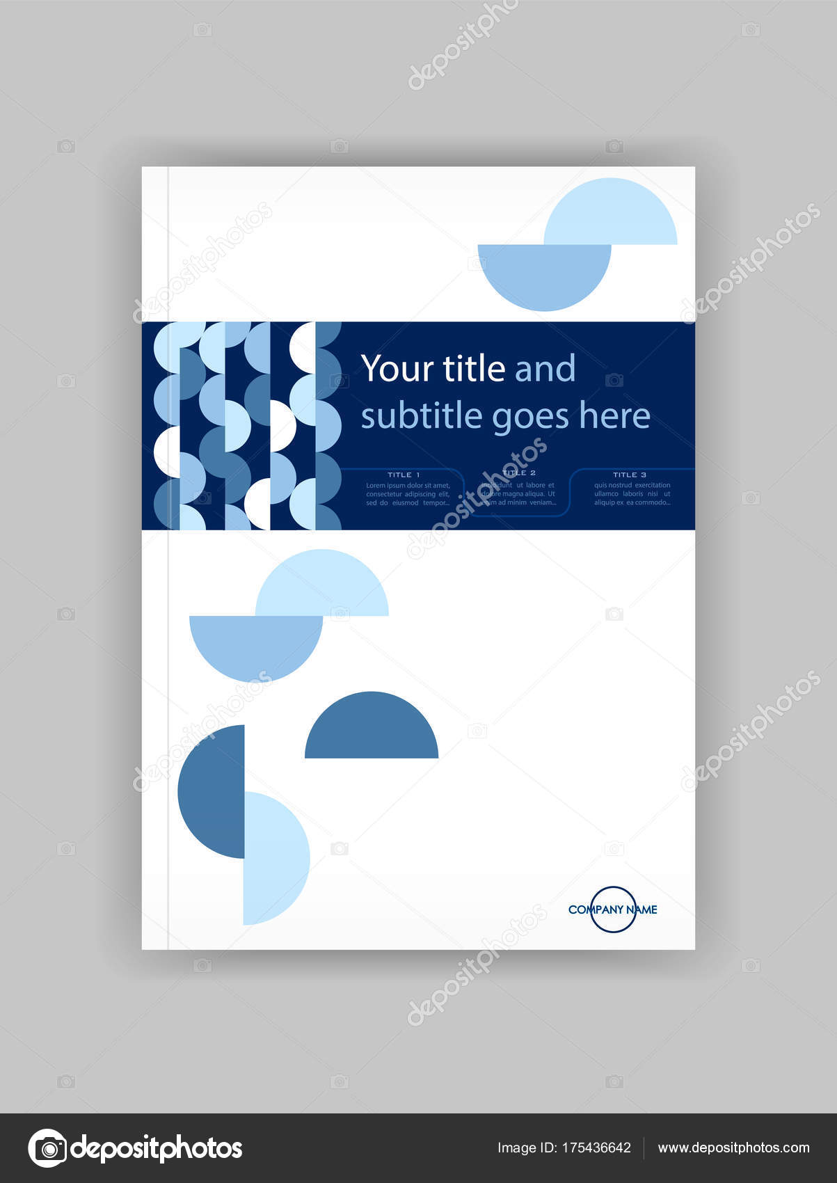 Business Deposit Book Cover : Blue a business book cover design template good for