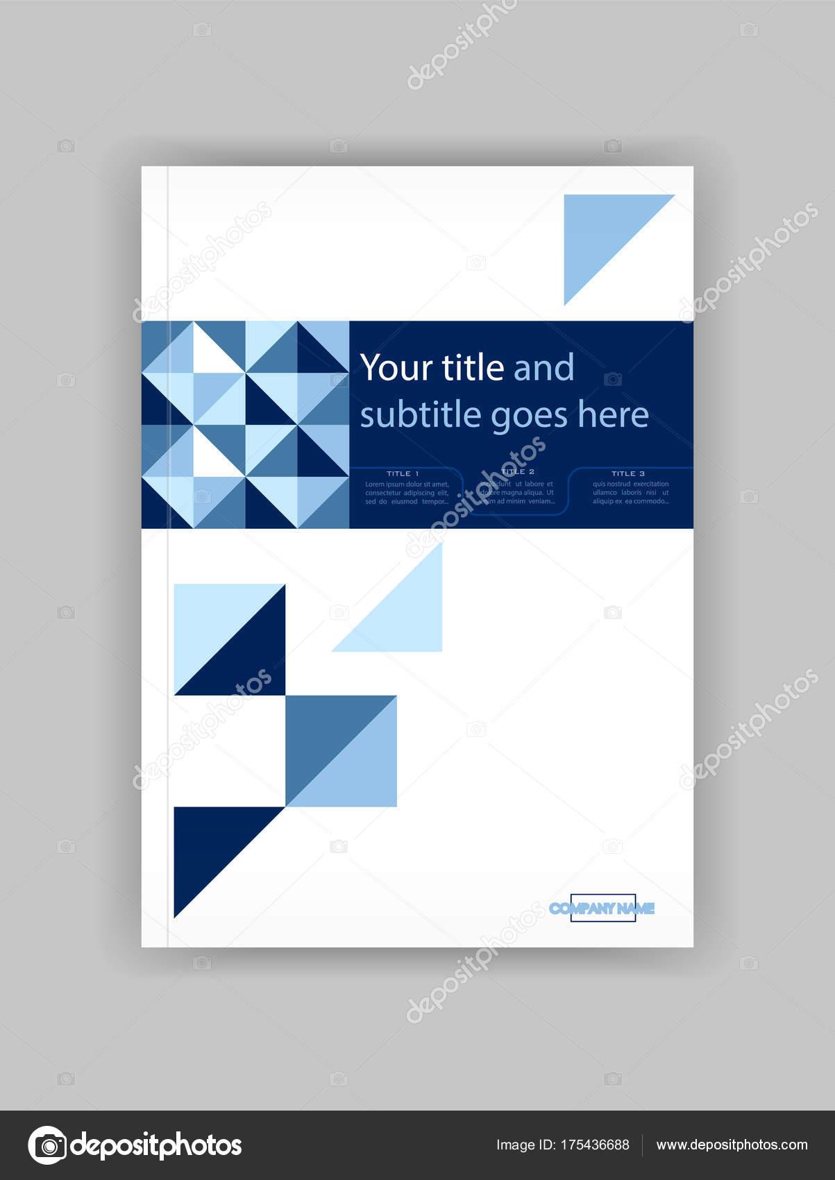 Blau A4 Business Book Cover Design-Vorlage. Gut für Portfolio ...