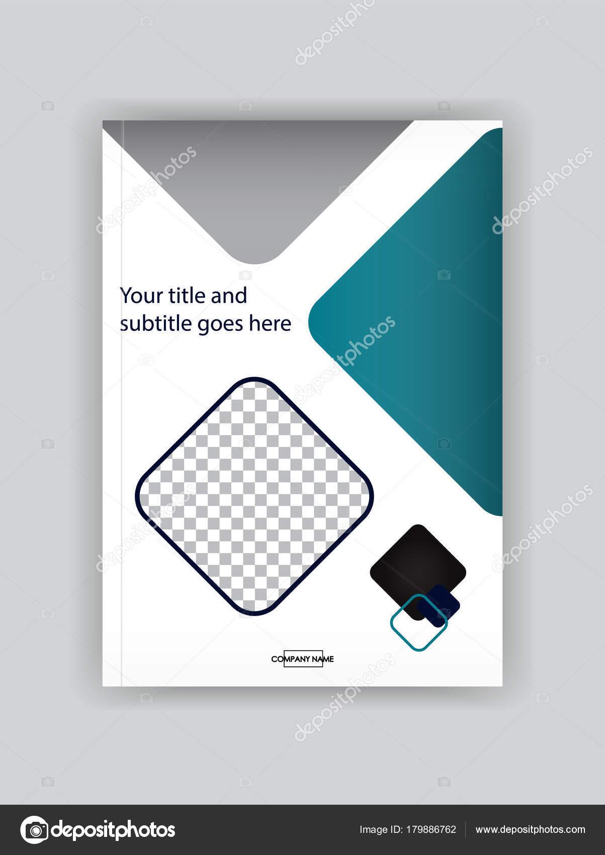 Business Buch-Cover-Design-Vorlage. Gut für Portfolio — Stockvektor ...