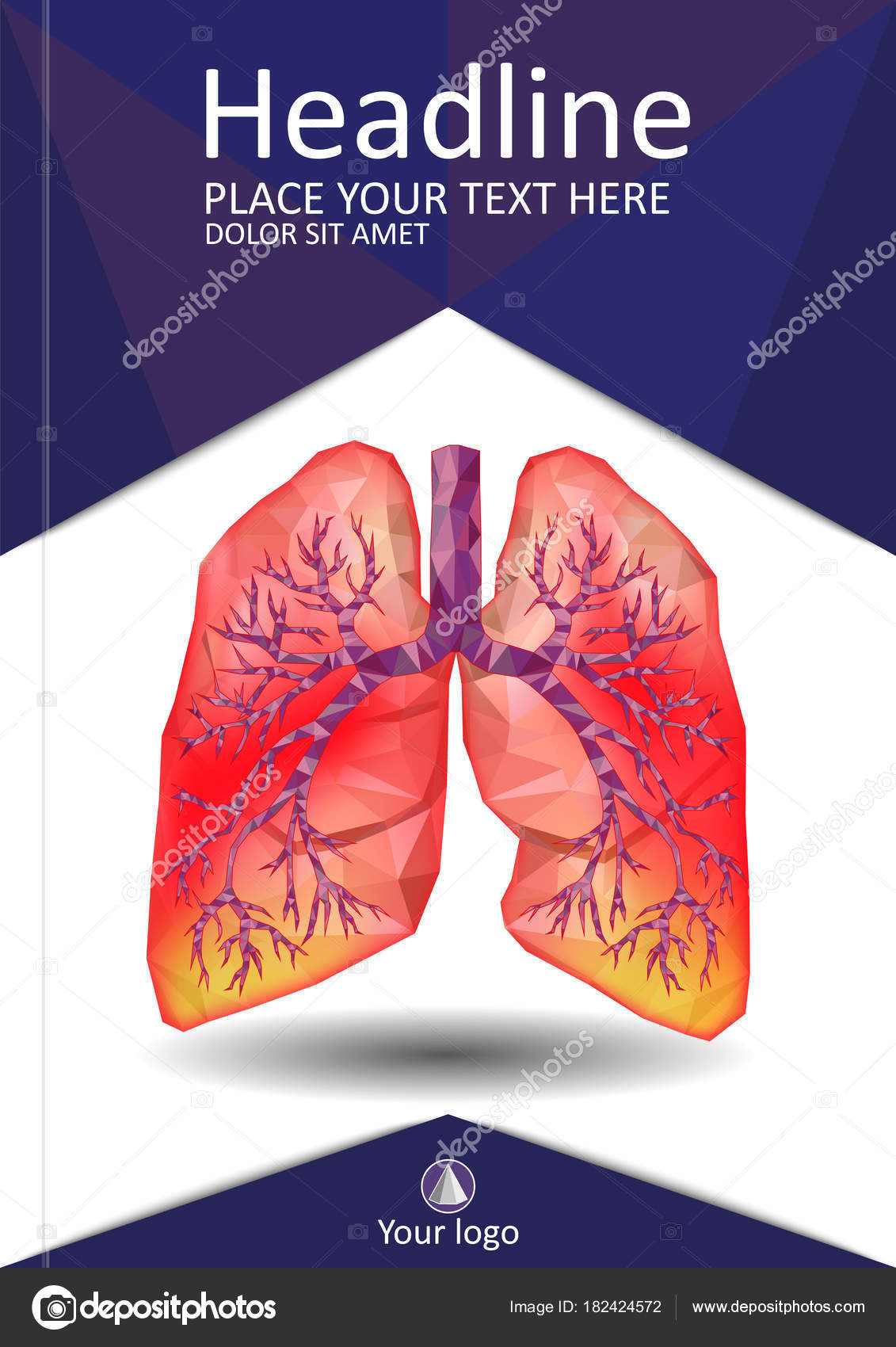 Cover Template For Books Banner Journal Sick Human Realistic