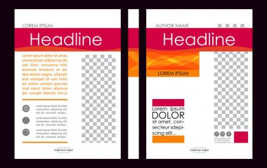 Editable Vector. A4 Business Book Cover Layout Design Template f