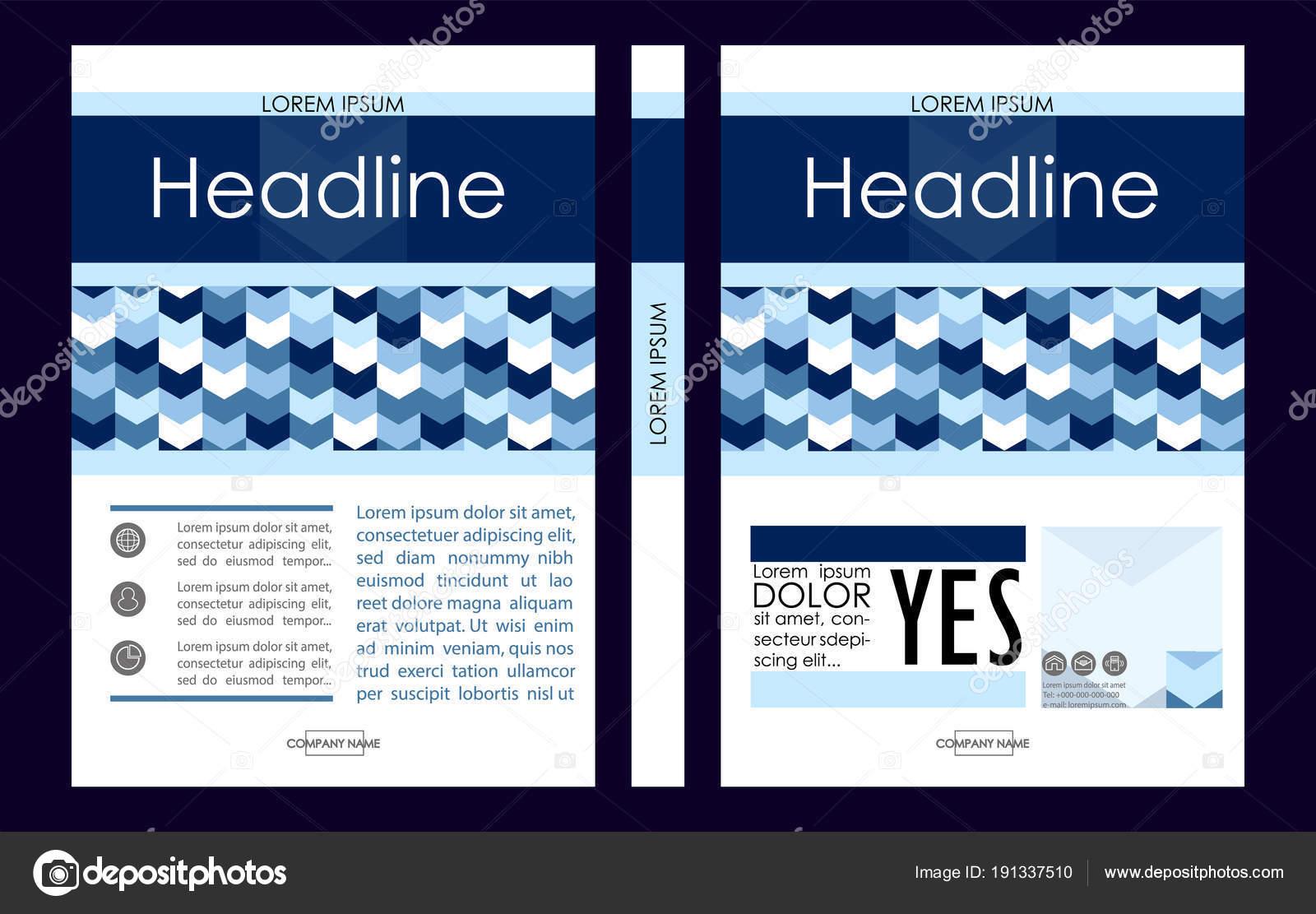 Business Deposit Book Cover ~ 블루 a 비즈니스 책 표지 디자인 서식 파일입니다 포트폴리오에 대 한 좋은 — 스톡 벡터