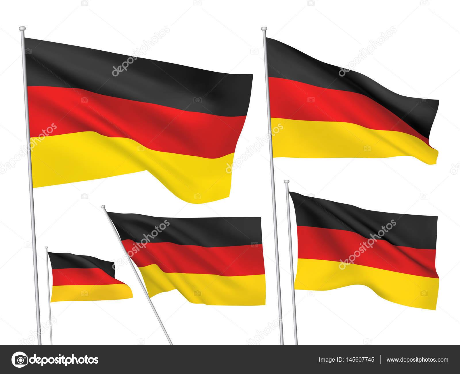 a5c48e9772d87 Vector bandeiras da Alemanha — Vetor de Stock © Mikrobiuz  145607745
