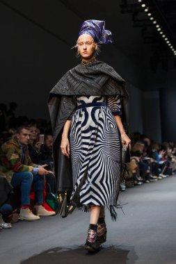 Model at Manish Arora Fall/Winter 2017 show