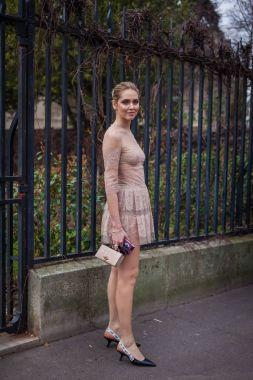 Chiara Ferragni in  Dior dress