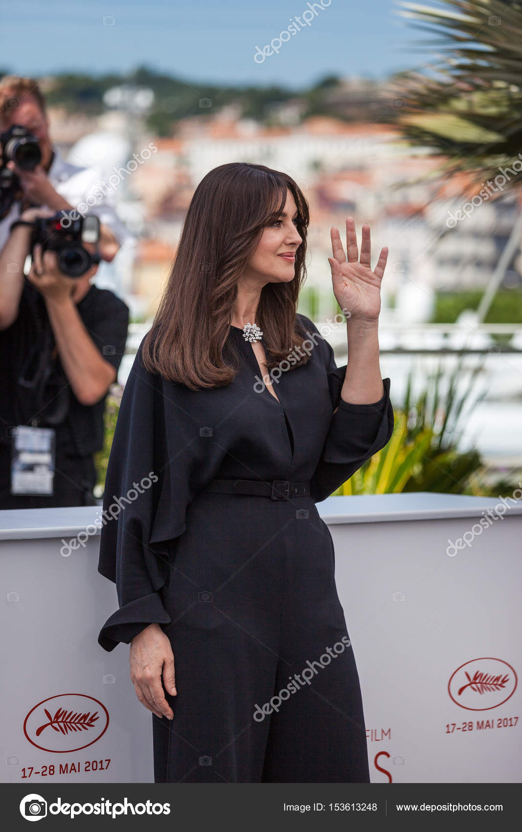 Monica Bellucci Attends Cannes Film Festival Stock